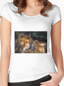 Chow portrait Women's Fitted Scoop T-Shirt