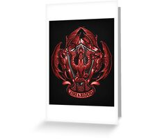 Fire and Blood - Print Greeting Card