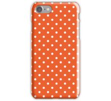 Polka Dots Orange White iPhone Case/Skin