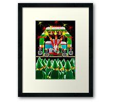 Rockin Santa Framed Print