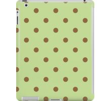 Polka Dots Green Brown iPad Case/Skin