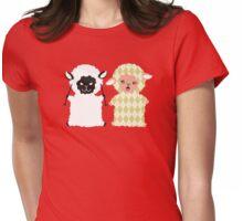 good bad argyle sheep knitting needles Womens Fitted T-Shirt