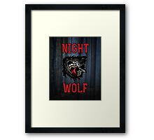 Scary Night Wolf Framed Print