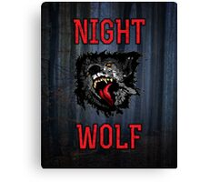 Scary Night Wolf Canvas Print