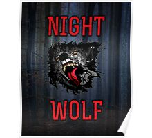 Scary Night Wolf Poster