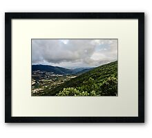 View over the valley Framed Print