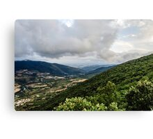 View over the valley Canvas Print