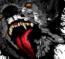 Scary Night Wolf Sticker