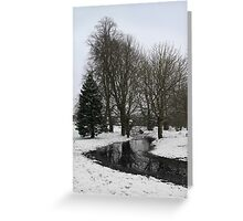 Trees in snow - Goldwell Park, Newbury Greeting Card