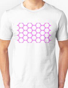 White/Pink Polka Dot  Unisex T-Shirt