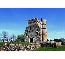 Picnic at Donnington Castle Photographic Print