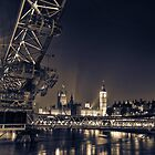 London Skyline at Night by Ian Hufton