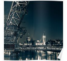 London Cityscape at Night Poster