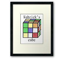 Kubrick's cube Framed Print