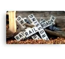 Waiting for the Second Coming of the Railroad Canvas Print