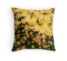 Yellow Leaves of Shibata Throw Pillow