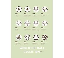 My Evolution Soccer Ball minimal poster Photographic Print