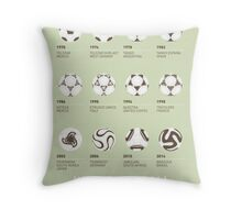 My Evolution Soccer Ball minimal poster Throw Pillow