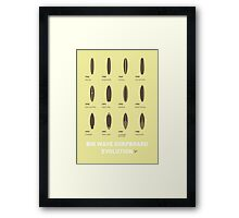 My Evolution Surfboards minimal poster Framed Print
