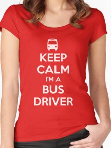 Keep Calm, I'm a Bus Driver Women's Fitted Scoop T-Shirt