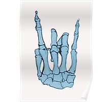 Skeleton hand | Blue Poster