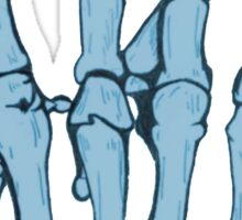 Skeleton hand | Blue Sticker