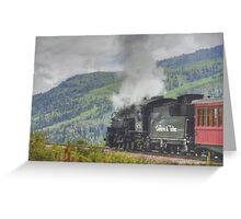 Steam across New Mexico Greeting Card