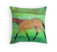 Buckskin Lungeliner Quarter Horse Throw Pillow