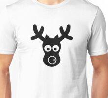 Funny reindeer face Unisex T-Shirt