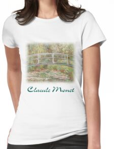 Monet - Lily Pads Womens Fitted T-Shirt