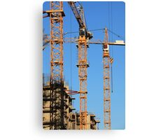 tower cranes Canvas Print
