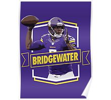 Teddy Bridgewater - Minnesota Vikings Poster