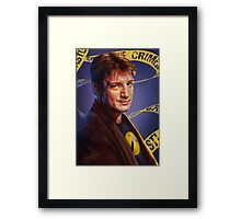 Nathan Fillion Framed Print