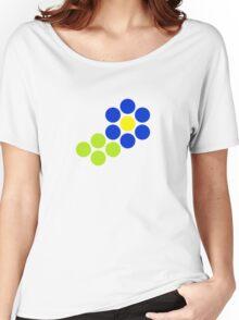 Polka Dot Flower (Blue) Women's Relaxed Fit T-Shirt