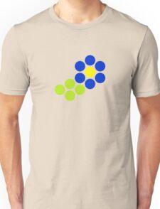 Polka Dot Flower (Blue) Unisex T-Shirt