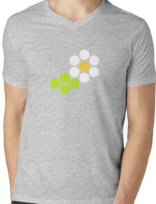 Polka Dot Daisy Mens V-Neck T-Shirt