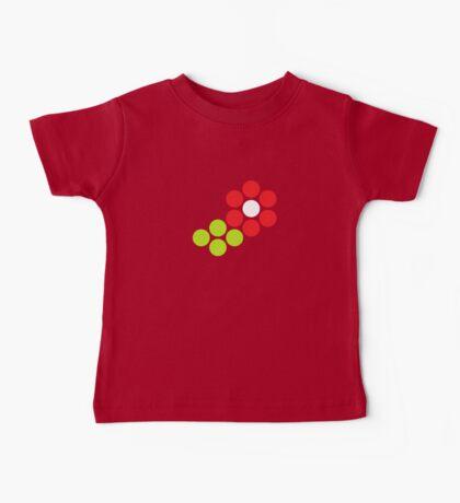 Polka Dot Flower (Red) Baby Tee