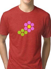 Polka Dot Flower (Pink) Tri-blend T-Shirt