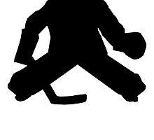 Hockey Goalie Silhouette by kwg2200
