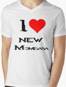 Halo-I heart new Mombasa Mens V-Neck T-Shirt