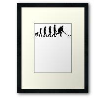 Hockey Evolution Framed Print