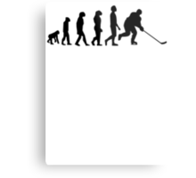 Hockey Evolution Metal Print