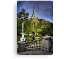 Night Passing the Earth to Day and Epworth Church Canvas Print