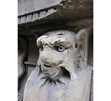 Gothic window support, Florence, Italy Photographic Print