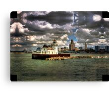 Lighthouse and the City Canvas Print