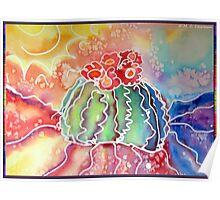 Rainbow Cactus Poster