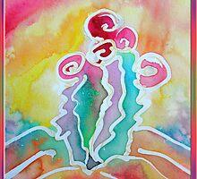 Colorful Cactus by M C  Sturman