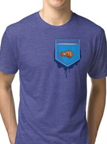 Pocket fish Tri-blend T-Shirt