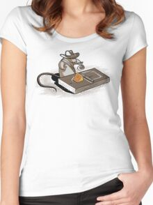 Indiana Mouse Women's Fitted Scoop T-Shirt