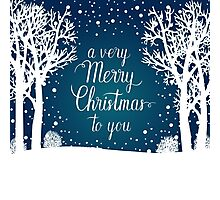 A very Merry Christmas to you hand lettering Photographic Print